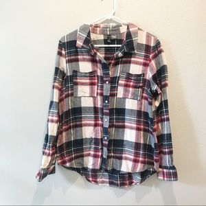 Full Tilt Red White and Blue Flannel Size Large